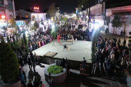 آخرین اجرای تئاترخیابانی شادیهای نوروزی در قالب پروژه تئاتر خیابانی دائم در رشت + تصاویر
