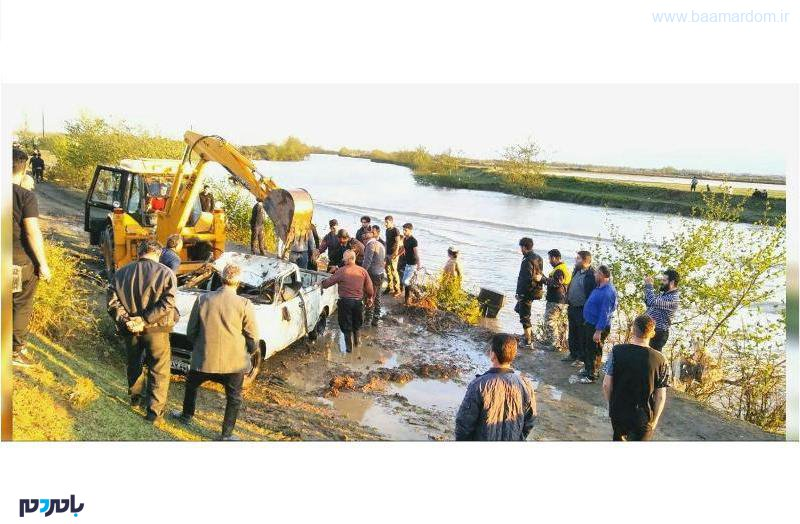 ۳ کشته، یک مجروح و یک مفقود در اثر سقوط پیکان وانت به رودخانه در صومعهسرا