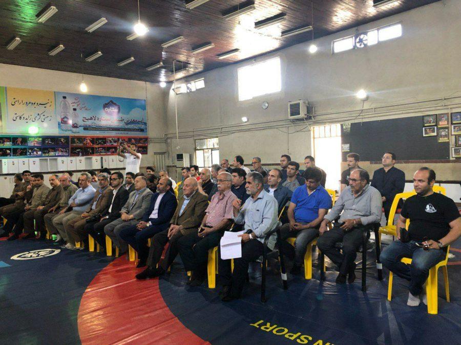 آیین عقد قرارداد هیئت کشتی لاهیجان با دکتر عسگری محمدیان برگزار شد + تصاویر