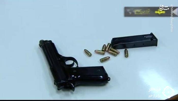 نخستین تصویر از اسلحه ایتالیایی نجفی با ۸ گلوله باقیمانده + عکس