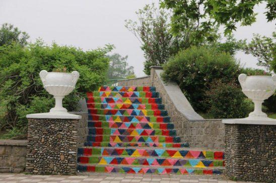 بهسازی و زیباسازی فضاهای گردشگری حاشیه استخر لاهیجان + تصاویر