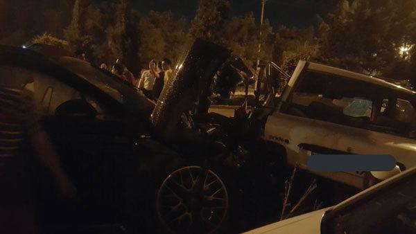 وحشتناک یک پورشه با پراید در اصفهان 1 600x338 - ماجرای خاصِ تصادف یک پورشه و پراید در اصفهان + فیلم و عکس