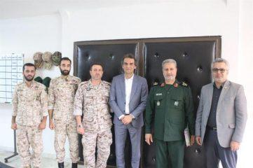 دیدار مدیر منطقه ۴ شهرداری رشت با فرماندهی لشکر عملیاتی ۱۶ سپاه قدس استان گیلان