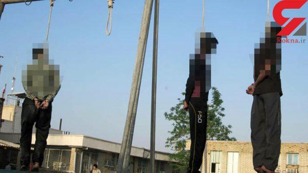 متجاوزین 600x338 - اولین عکس از اعدام 3 جوان پلید در بندر عباس / این زن توانست از چنگال آن ها فرار کند