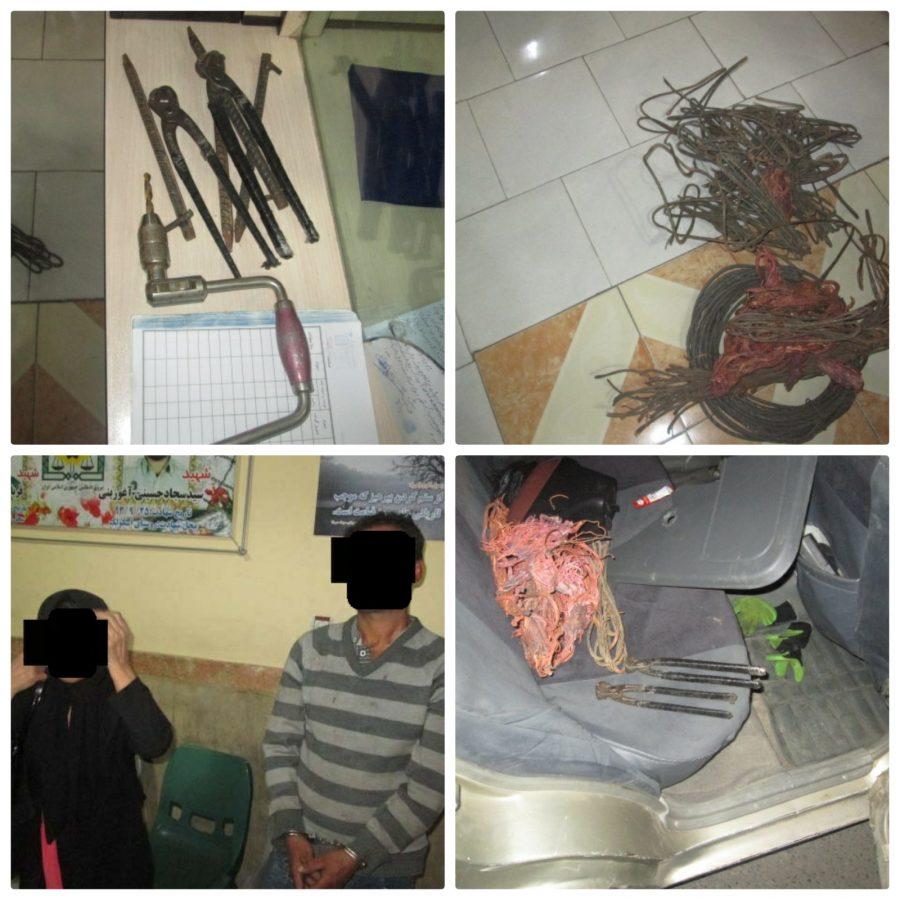 دستگیری سارقان سیم برق با کشف ۷ فقره سرقت در رودبار