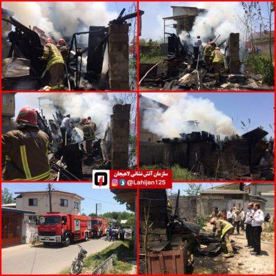 آتشسوزی یک انباری در لاهیجان 400x400 - مهار آتشسوزی یک انباری در لاهیجان