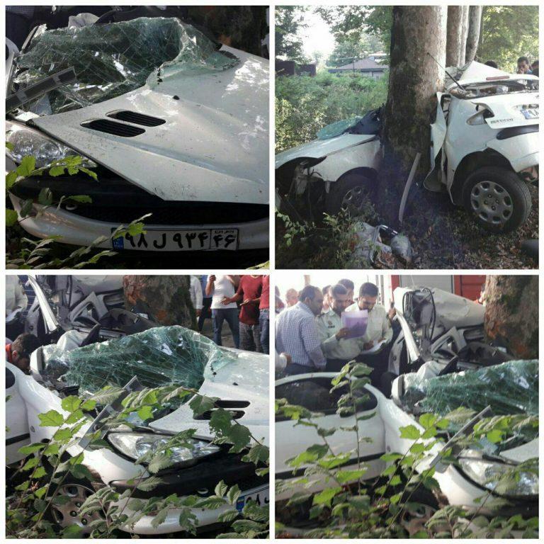 کشته شدن دو پرسنل شبکه بهداشت و درمان شهرستان فومن در حادثه تصادف
