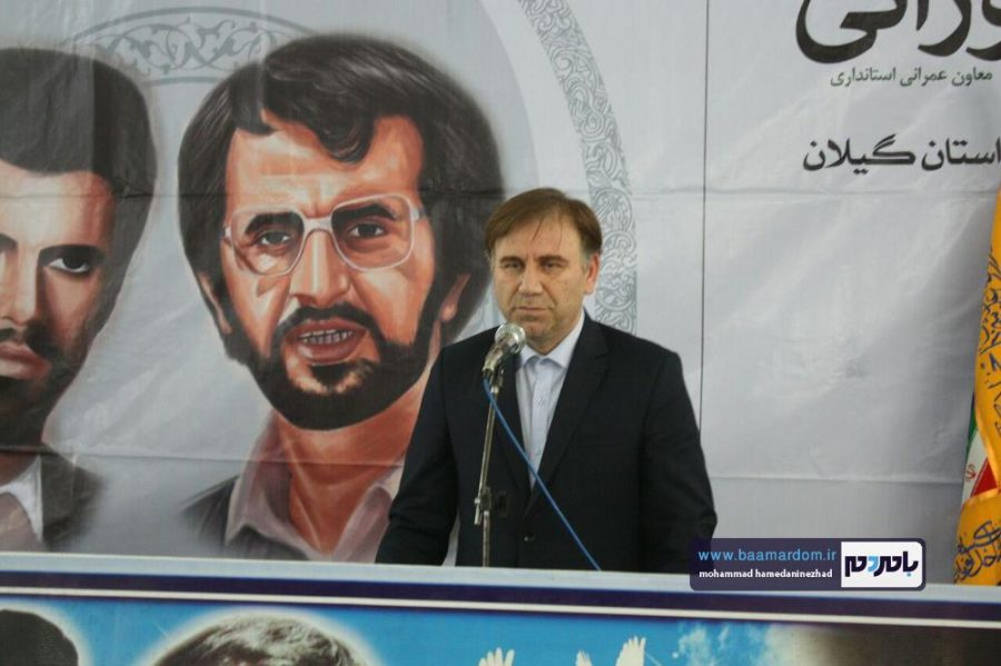 گزارش تصویری مراسم سالگرد شهید انصاری تنها استاندار شهید کشور در رودسر