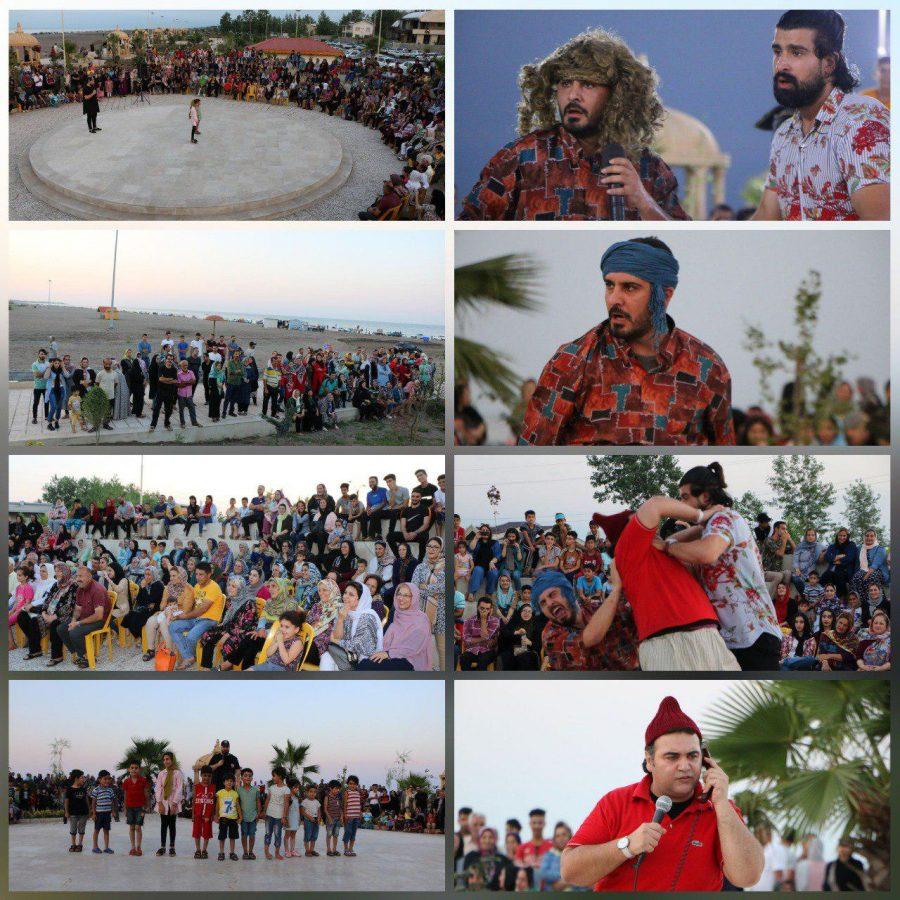 برگزاری کنسرت کمدی خنده در طرح سالمسازی دریای چاف