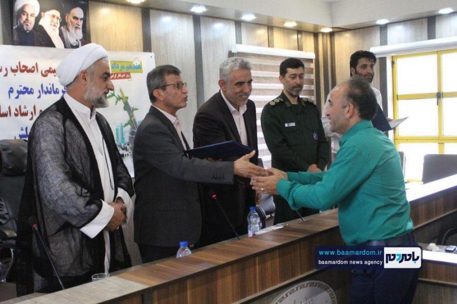 از خبرنگاران گیلانی در املش 6 - گزارش تصویری تجلیل از خبرنگاران در فرمانداری املش