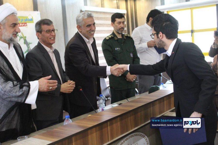 از خبرنگاران گیلانی در املش 7 - گزارش تصویری تجلیل از خبرنگاران در فرمانداری املش