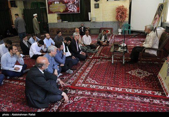 575x400 - استقبال بسیار کمرنگ از سعلید جلیلی در همدان +عکس