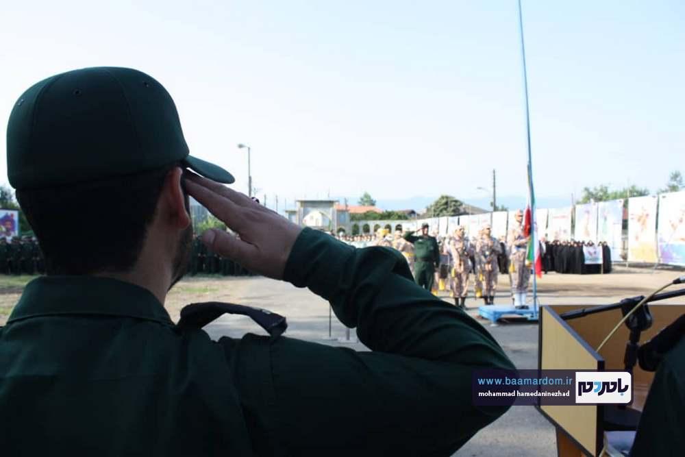 گزارش تصویری صبحگاه مشترک نیروهای نظامی و انتظامی شهرستانهای شرق گیلان در لنگرود