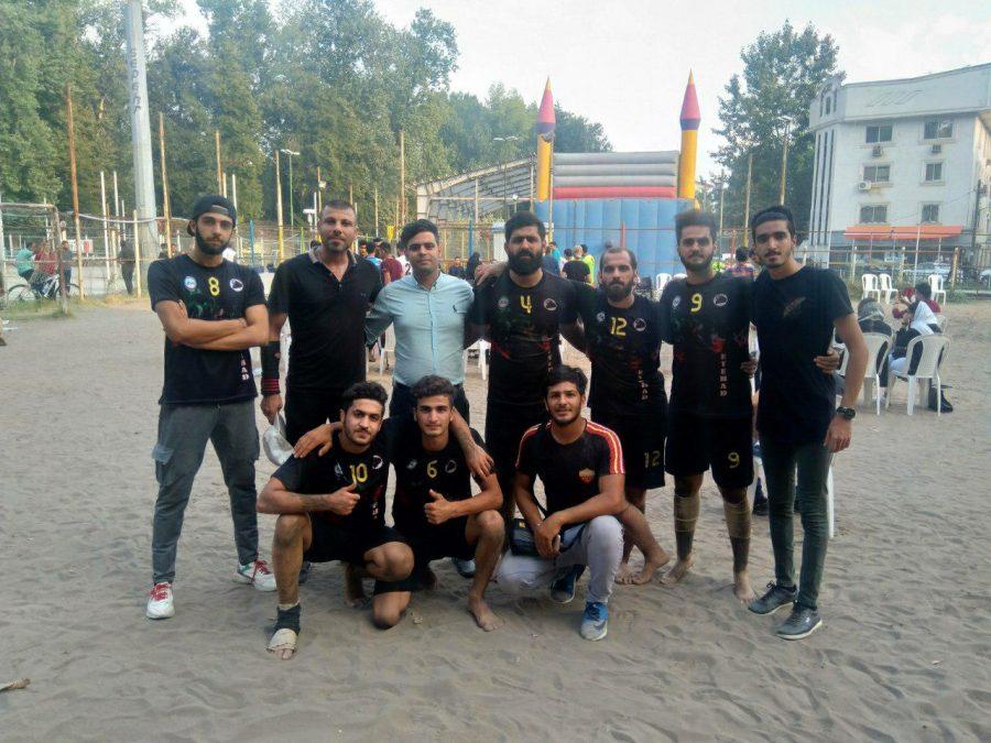 کسب مقام سوم مسابقات کبدی ساحلی قهرمانی گیلان توسط لاهیجان