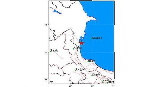آستارا - زلزله ۴ ریشتری آستارا را لرزاند