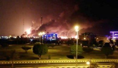 لحظه ای که ۵ میلیون لیتر نفت عربستان دود شد رفت هوا + عکس
