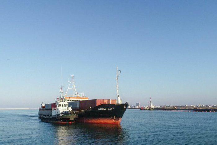 پهلوگیری بیستمین کشتی تجاری در مجتمع بندری کاسپین