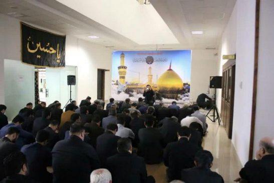 گزارش تصویری برپایی مراسم عزاداری دهه اول مُحَرَم اَلحَرام در نمازخانه شهرداری رشت