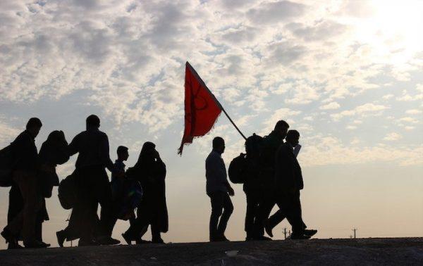 پیاده روی اربعین 600x378 - ورود بیش از ۱۴ هزار زائر خارجی اربعین به گیلان
