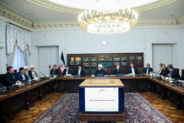 جلسه شورای عالی هماهنگی اقتصادی سران قوا 600x400 - حمایت اعضای شورا از مصوبه مدیریت مصرف سوخت / تقدیر از زحمات رحمانی فضلی در اجرای طرح