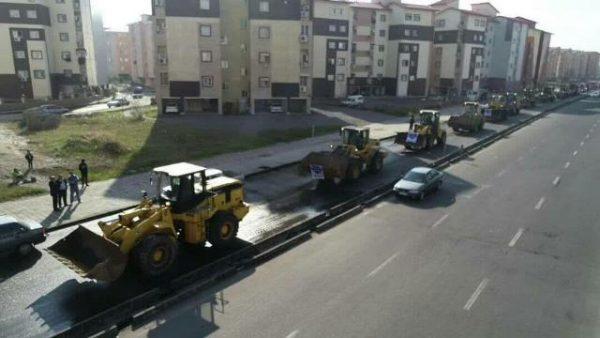رژه خودرویی عملیات زمستانی شهرداری رشت انجام شد 6 600x338 - رژه خودرویی عملیات زمستانی شهرداری رشت انجام شد + تصاویر
