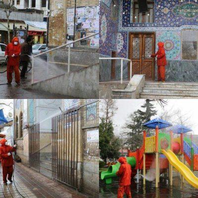 ادامه ضدعفونی اماکن عمومی لاهیجان توسط شهرداری 400x400 - ادامه ضدعفونی اماکن عمومی لاهیجان توسط شهرداری