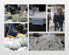 از راه اندازی خط تولید ماسک قابل شستوشو تا اهدای بیش از هزار ماسک و دستکش به شهروندان لاهیجان