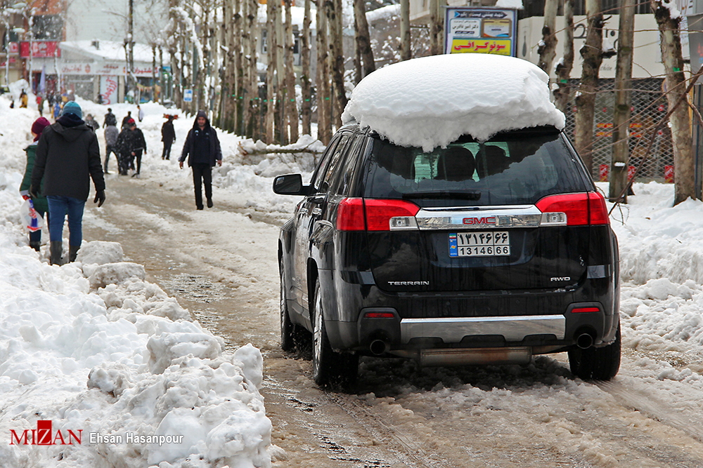 برف لاهیجان 12 - یک روز پس از بارش برف سنگین در لاهیجان / گزارش تصویری