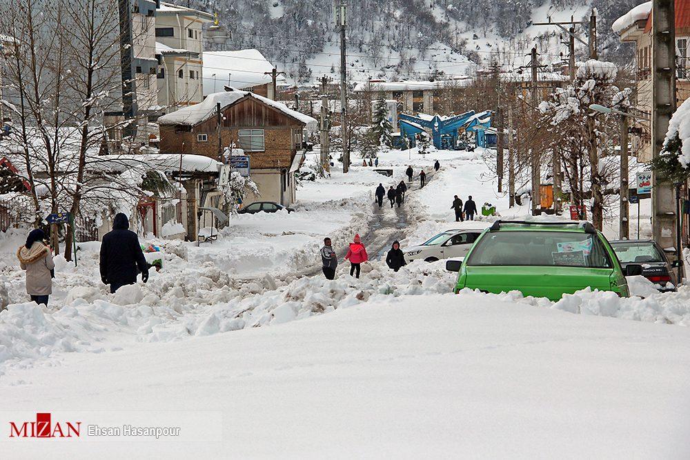 برف لاهیجان 3 - یک روز پس از بارش برف سنگین در لاهیجان / گزارش تصویری