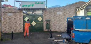 گزارش تصویری ضدعفونی کردن روزانه اماکن عمومی شهر لاهیجان