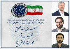 اعلام گزینههای مورد حمایت پویش جوانان و دانشجویان رشت در انتخابات مجلس