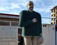 مجسمه نازیبای ساخته شده از سردار سلیمانی در هیچ نقطه از انزلی نصب نشده است