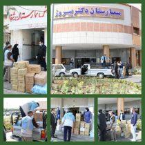 یک خیر مقادیری اقلام بهداشتی برای توزیع به شهرداری لاهیجان اهدا کرد