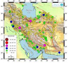 ایران در اردیبهشت امسال ۹۰۰ بار لرزید