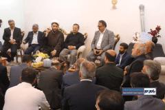 دیدار جمعی از مسئولین شهرستان رودسر با خانواده شهید مدافع امنیت حسن عشوری