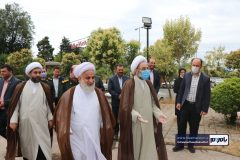 بازدید آیت الله فلاحتی نماینده ولی فقیه در استان گیلان از شرکت طراحی و تولید دستگاه ضد عفونی هوا و سطوح در شهرستان رودسر
