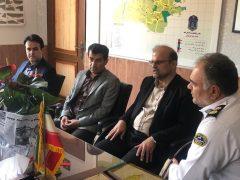 دیدار اعضای شورای شهر لاهیجان با رئیس جدید راهور شهرستان
