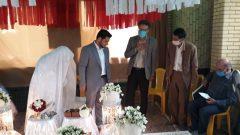 مراسم عقد زوج جوان در مزار شهدای گمنام روستای سرایدشت رودسر برگزار شد + تصاویر