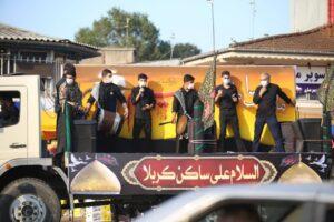 تکیه سیار اباعبدالله در لنگرود + تصاویر