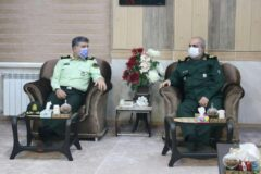 دیدار فرماندهان سپاه قدس و نیروی انتظامی گیلان به مناسبت هفته دفاع مقدس