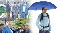 بخشداری که چتردار نماینده لاهیجان و سیاهکل شد/ جوابیه: وظیفه انسانی بود!+عکس