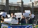 تجمع اعتراضی محکومان مهریه در مقابل مجلس!