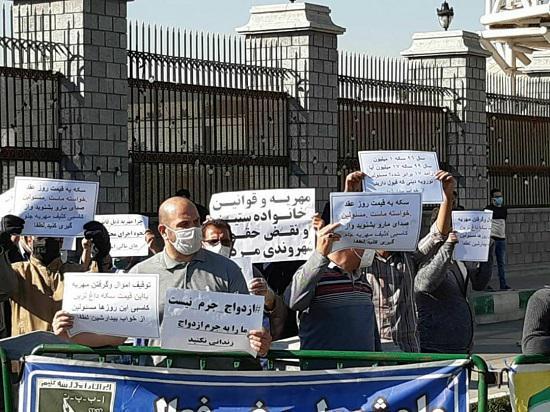 تجمع اعتراضی محکومان مهریه در مقابل مجلس 6 - تجمع اعتراضی محکومان مهریه در مقابل مجلس!