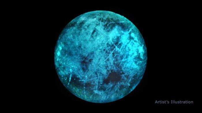 نور آبی رنگ عجیب از ماه 700x394 - ناسا تصویری از نور آبی رنگ عجیب از ماه را در اروپا به نمایش گذاشت