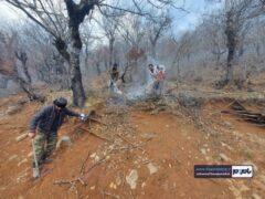 آتش سوزی در ۱۰ هکتار از جنگل های اشکورات رحیم آباد/ عملیات مهار آتش همچنان ادامه دارد