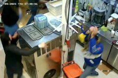 دستگیری عاملان قمه کشی بستنی فروشی شهر تالش/ زخمی شدن یکی از متهمان با شلیک پلیس