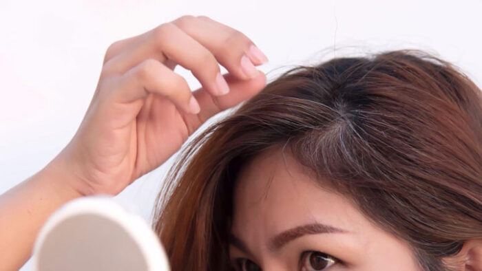 موی سر موی سفید 700x394 - جلوگیری از سفیدی موها
