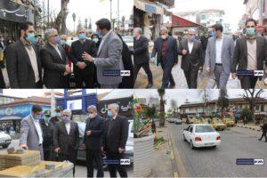 بازدید از پروژه در حال ساخت آرام راه میدان تا میدان شهر رودسر