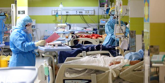 بستری کرونا 1 - دست و پنجه نرم کردن ۳۵۰ بیمار کرونایی با مرگ در گیلان