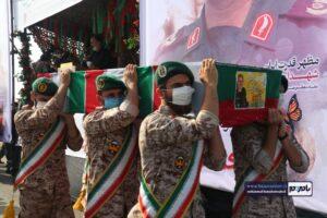مراسم وداع و تشییع پیکر مطهر سردار محمد علی حق بین در شهرستان لنگرود برگزار شد